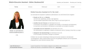 Mobile Executive Assistant - Esther Haudenschild