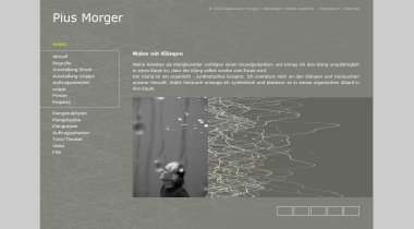 Pius Morger - sound creation and positioning in space
